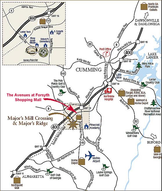 All Georgia RealtyDeborah WeinerREMAXMajors Mill Crossing Area - Georgia map road