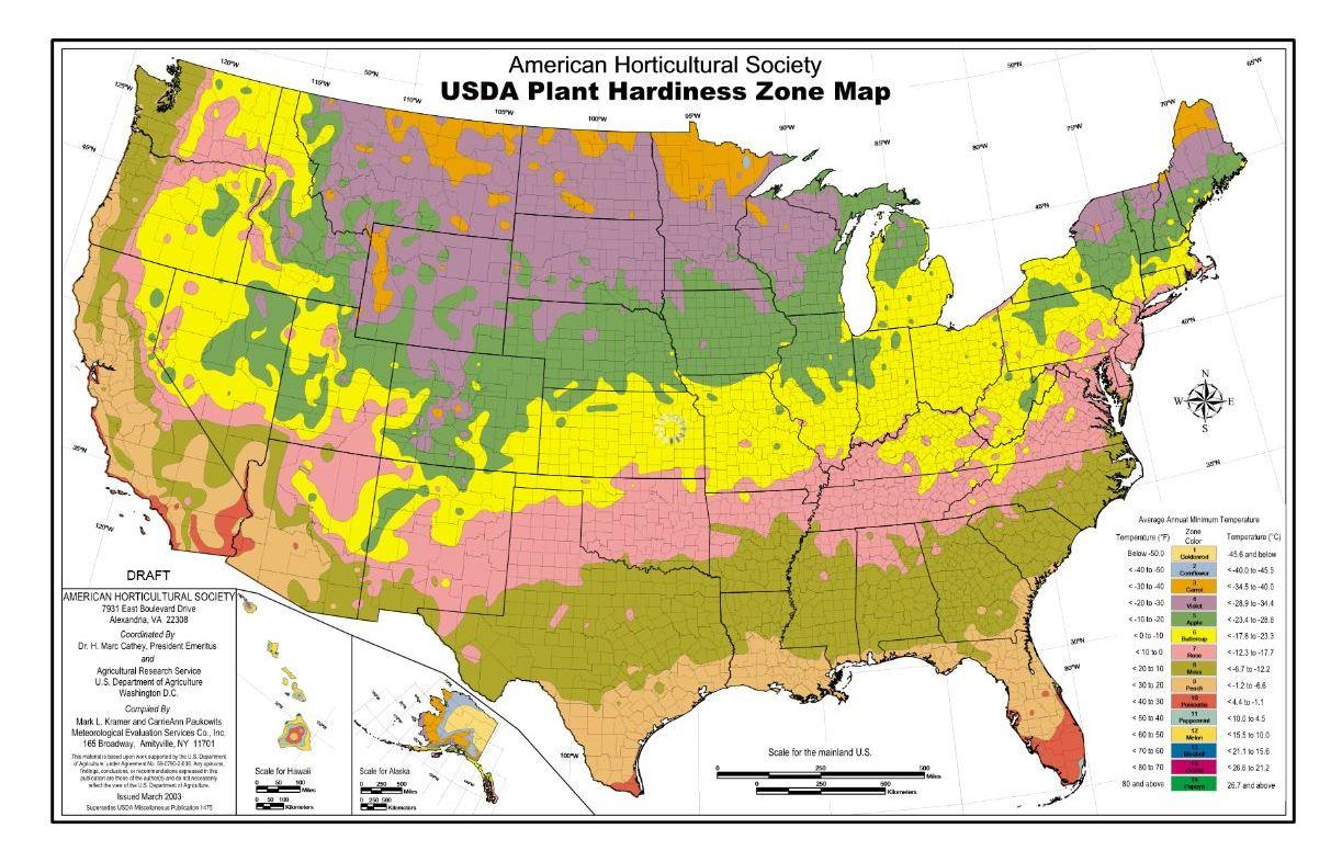 Georgia Zone Map Swimnovacom - Map of us growing zones