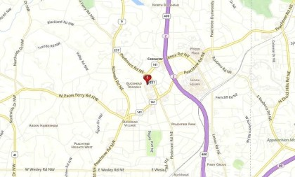 Map Buckhead Atlanta Buckhead Forest Mews Location