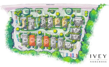 Site Plan Ivey Of Norcross